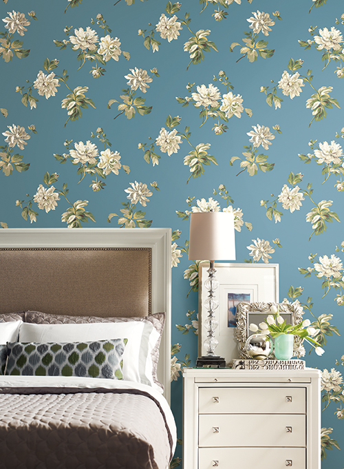 DPR; CLY 938 Leaf Framed Damask; PR9106; Bedroom